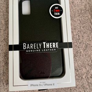 case-mate Accessories - 🍉NEW Barely There Leather Black iPhone Xs/ X case